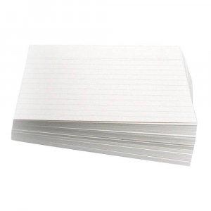 Karteikarten DIN A5, liniert, weiß